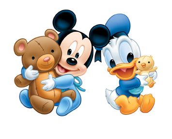 Desenho Mickey Mouse on Imagens Baby Disney   Mickey  Minnie  Donald  Pateta E Pluto   Abc