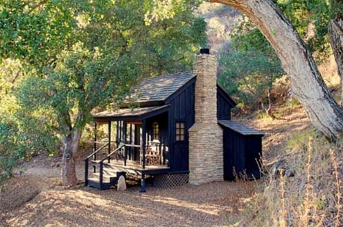 Tiny Cozy Small Wooden House in California