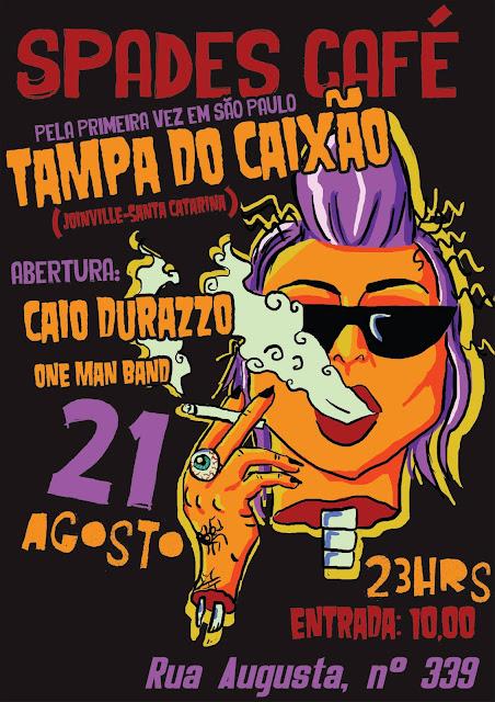 Tampa do Caixão no Spades Café em São Paulo