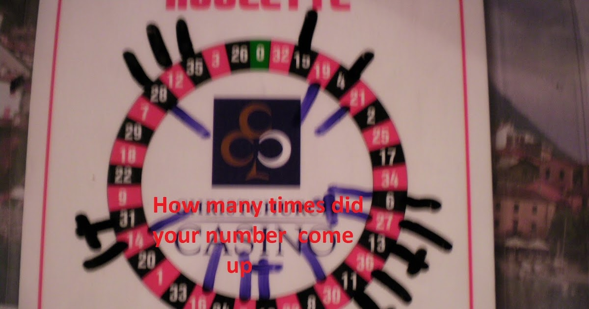 Most winning roulette numbers