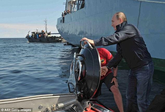 007! Russian Leader Putin Goes Full Bond Baddie In His Mini Submarine