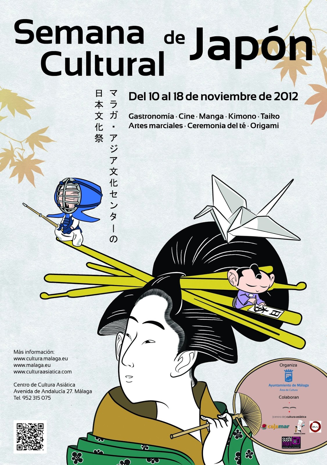 Cartel Semana Cultural de Japón Málaga