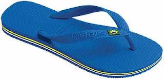 chancla brasileña azul