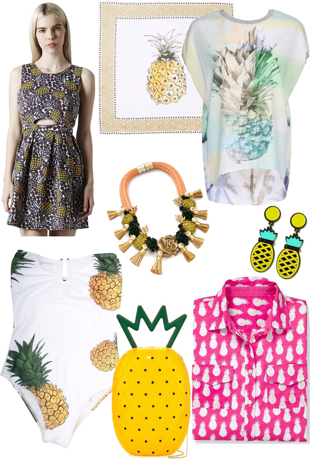 Pineapple Print Summer Fashion