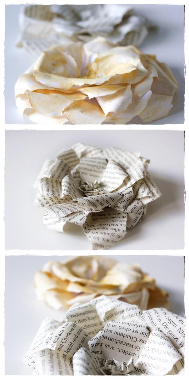 Basteln mit Papier, Rosen, DIY