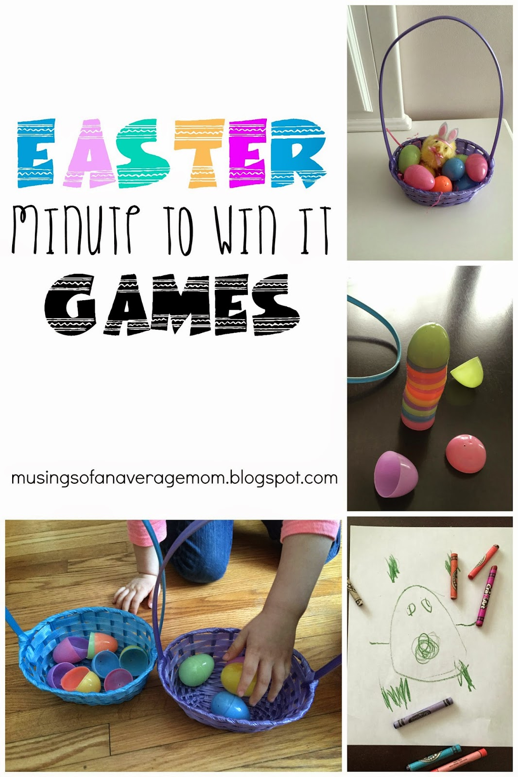 Musings of an Average Mom: Easter Minute to Win It