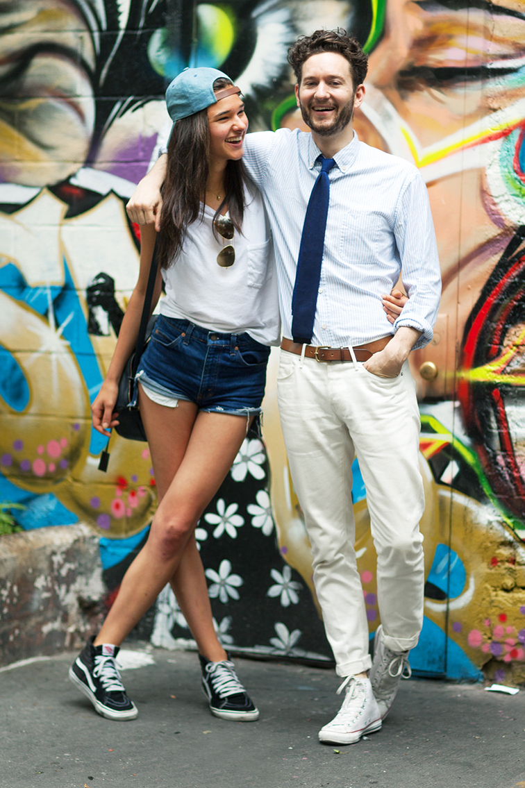 Jenny Albright and Isaac Hindin Miller hot stylish couple refinery 29 street style