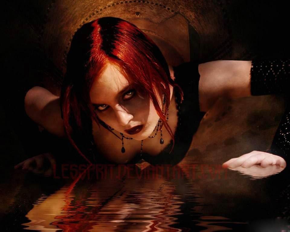 girl on dark wallpaper - photo #4