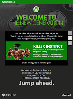 free killer instinct e mail Free Deals   Microsoft Is Giving Away Killer Instinct & Xbox One Consoles To Select Fans