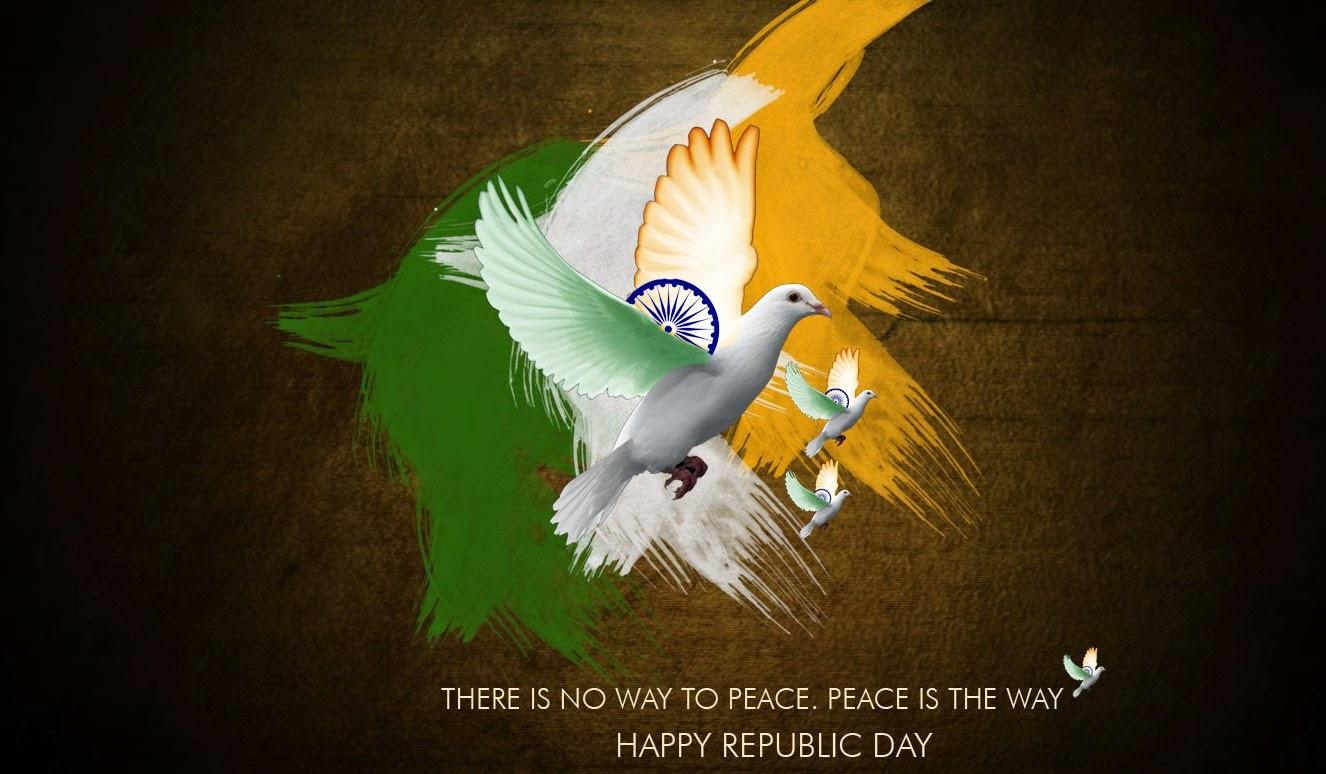 Happy republic day bird fly desktop wallpaper