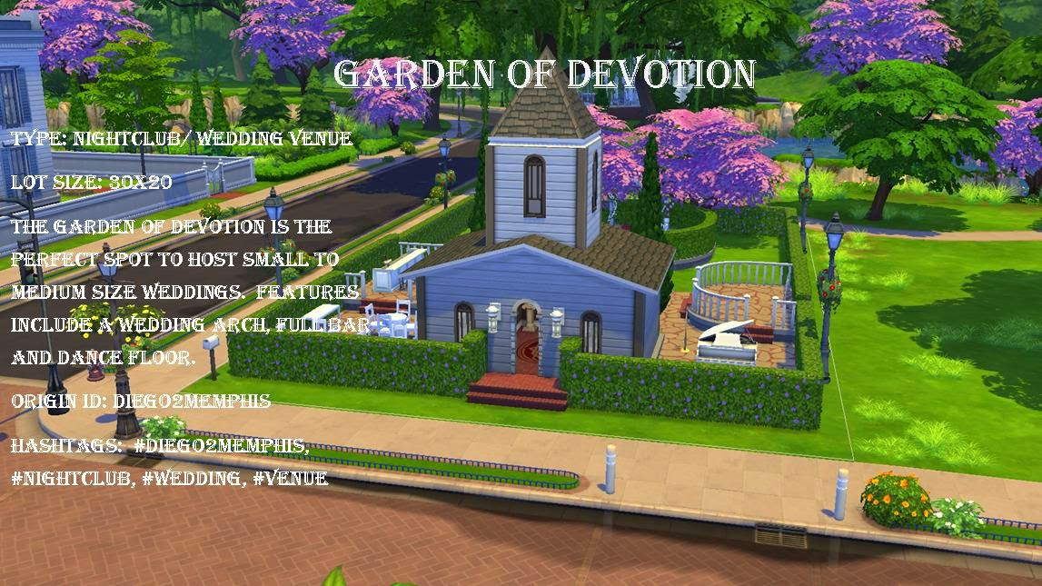 Sims 4: Family Moments: Sims 4 Community Lot - Garden of Devotion ...