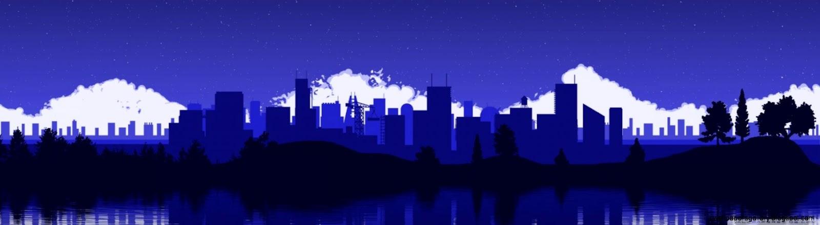 City Skyline Silhouette HD desktop wallpaper  High Definition