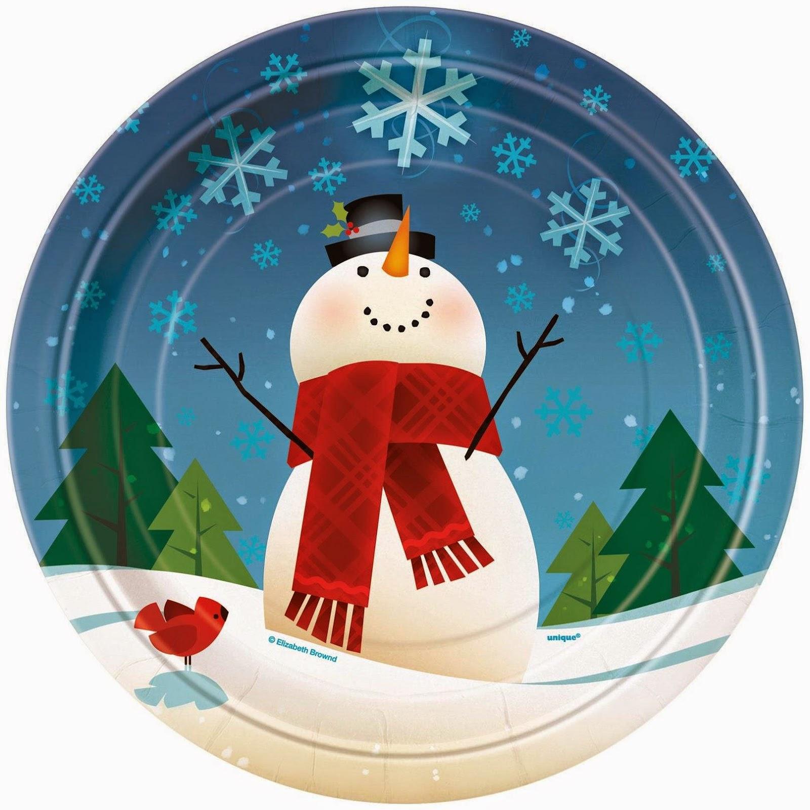 JoyFull-SnowMan-Plates-Christmas