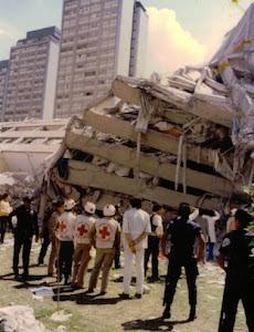Imagen de Tlatelolco después de los sismos de 1985