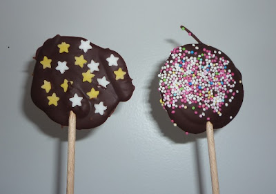 sucettes au chocolat sans moule