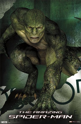 the amazing spiderman movie poster, the lizard