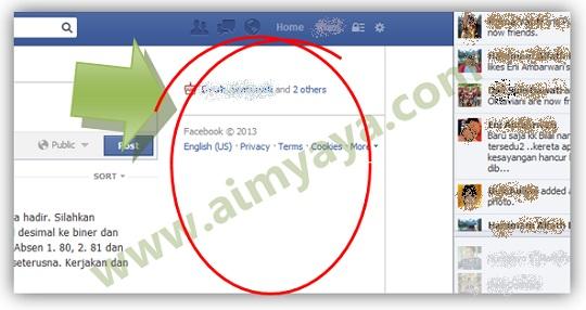 Gambar: Contoh tampilan facebook tanpa iklan di mozilla firefox