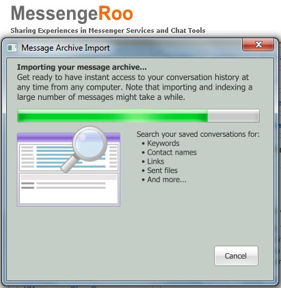 Importing Message Archive to Conversation History Online Yahoo Messenger 11