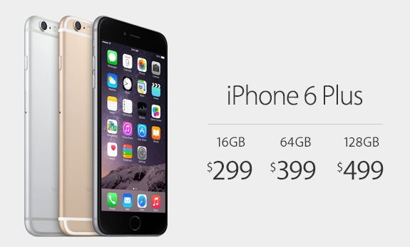 On-Contract Carrier Locked iPhone 6 Plus Price