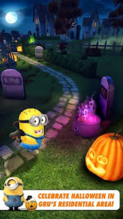 Despicable me apk hallowen running