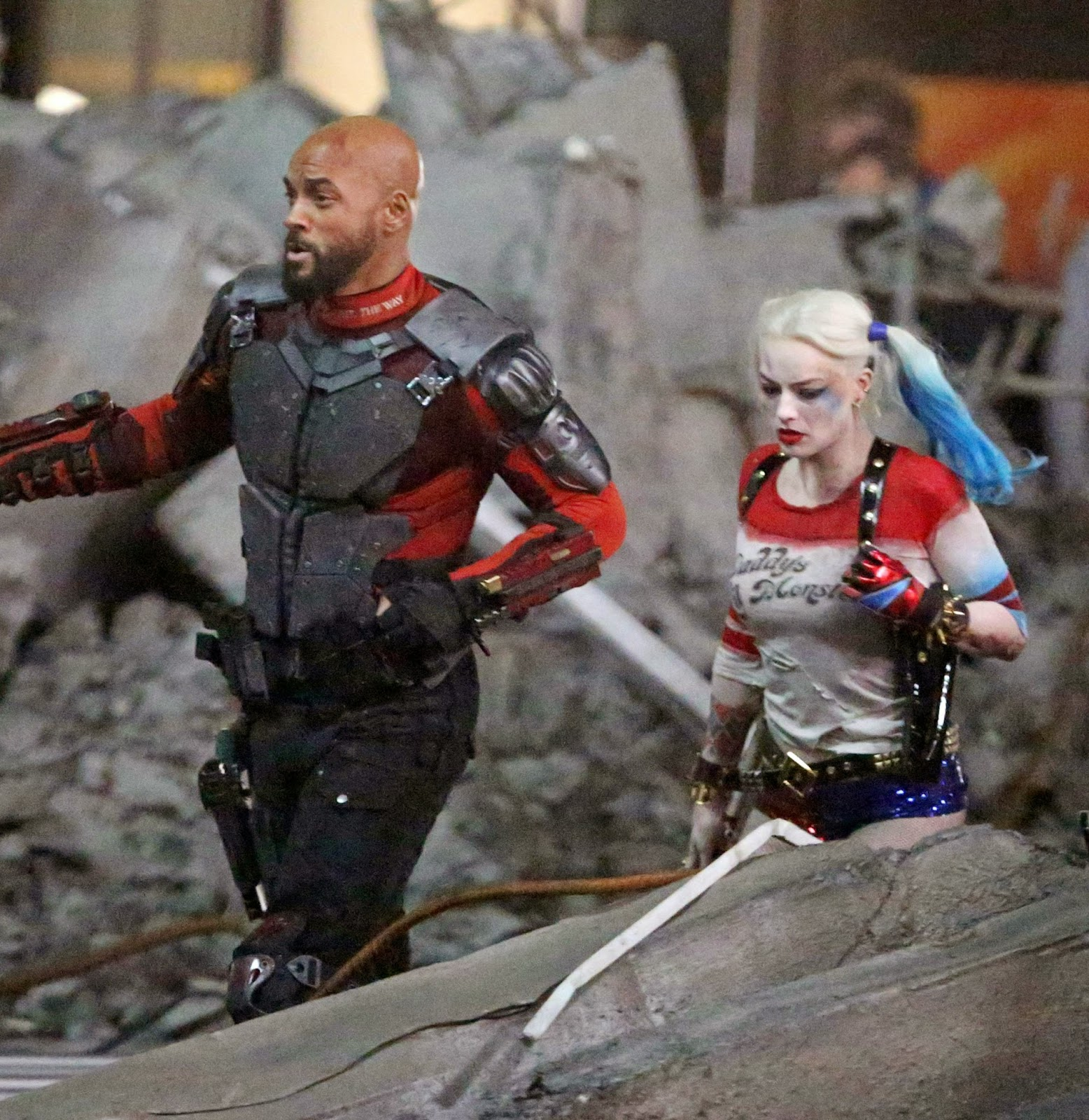 New Suicide Squad Photo Teams Harley Quinn &amp- Deadshot
