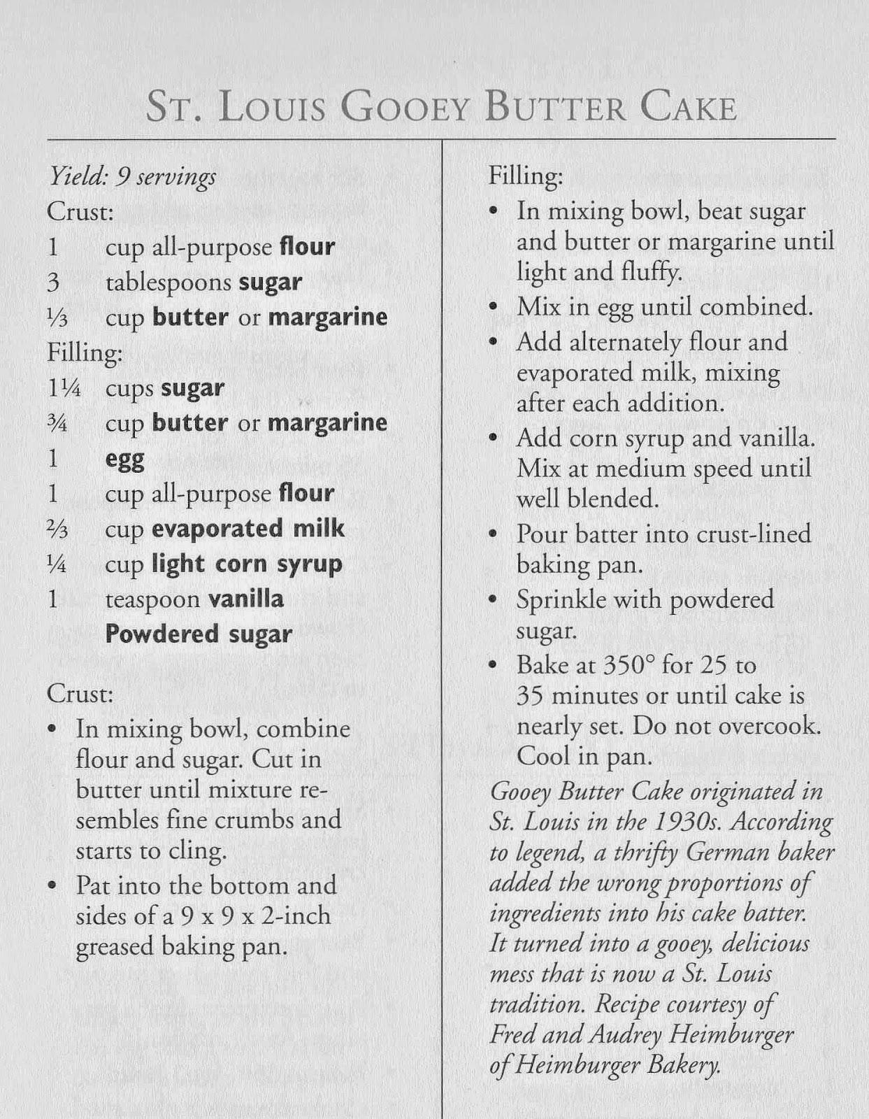 Olla-Podrida: St. Louis Gooey Butter Cake