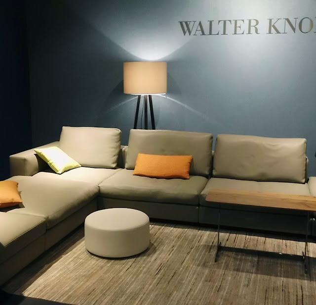 WALTER KNOLL Messestand auf der Kölner Möbelmesse imm cologne 2013 - Einrichten im Mid-Century Farbschema