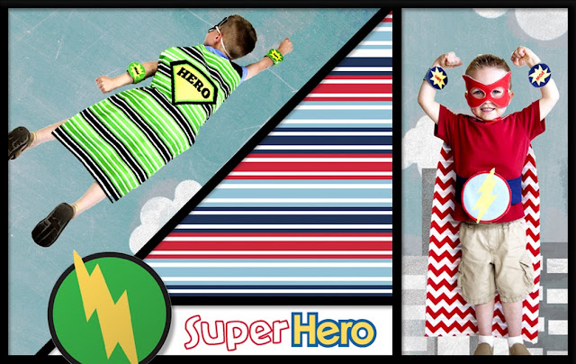 Super Hero fabrics from Riley Blake