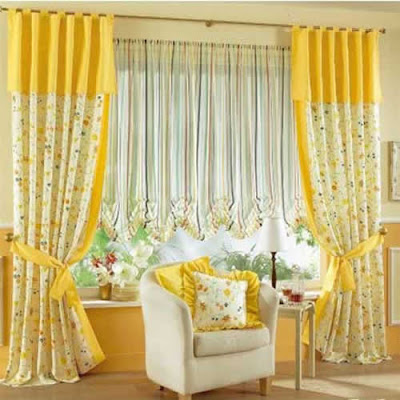 Living Room Designs Unique Curtains Enhance The Beauty Of