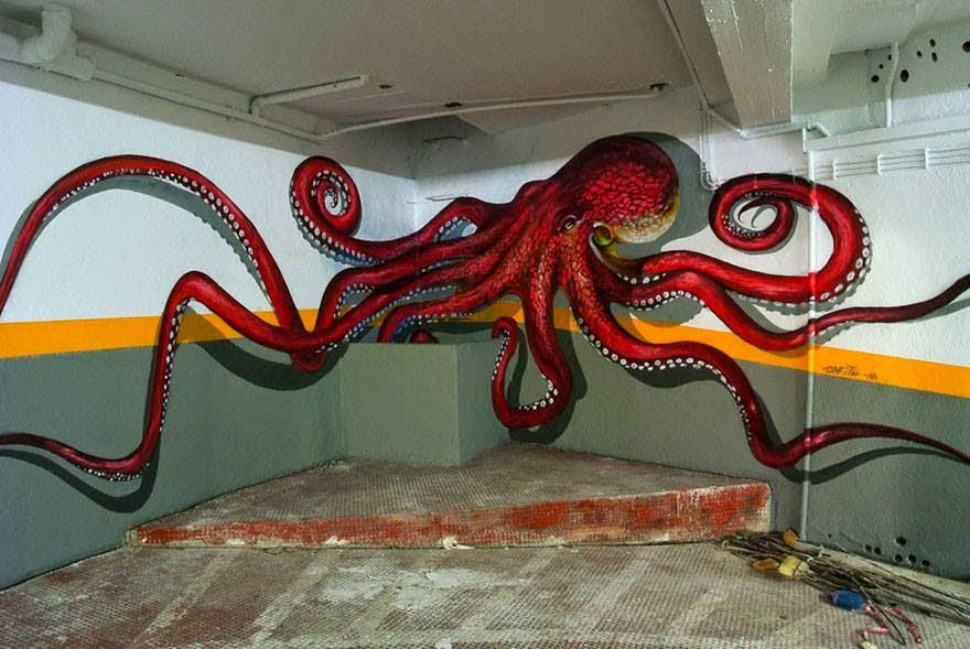 10 Lukisan Graffiti 3D Di Bucu Dinding Yang Super Cool