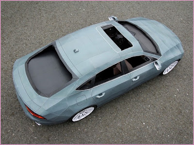 Audi A7 Made Out of Paper by Taras  Lesko Seen On www.coolpicturegallery.us