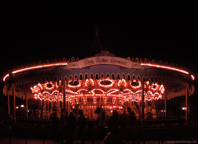 King Arthur Carrousel Carousel Disneyland night merry round