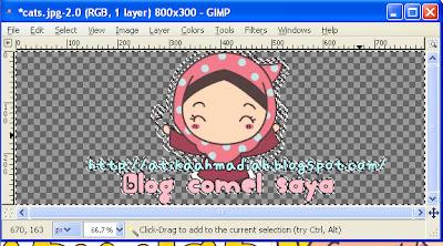 Photoscape, Download Photoscape, Tutorial Header guna Photoscape, Cara nak buat Header Guna Photoscape, Header Transparent, Cara buat Header Transparent, GIMP, Download GIMP, GIMP 2, Header Transparent guna GIMP