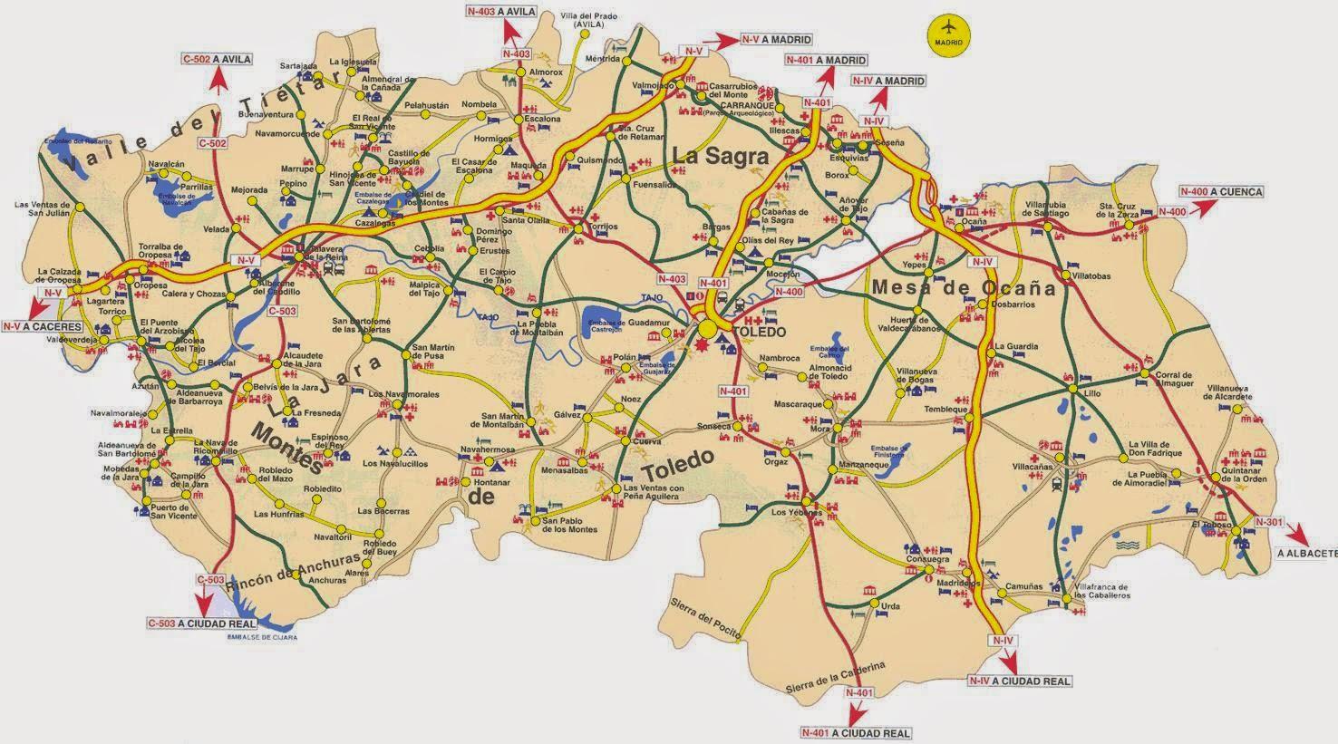 Provincia de toledo pueblos con mucho encanto blog - Plano de ciudad real ...