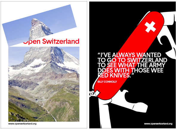 open switzerland posters