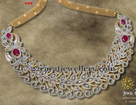 Floral Diamond Choker by JCS Jewels