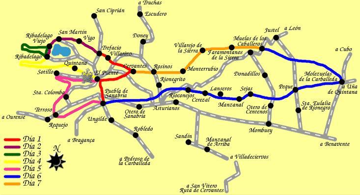 Mapa Del Recorrido De Don Quijote El Rincon Pavo