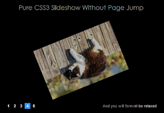 Pure CSS3 Slideshow Without Page Jump
