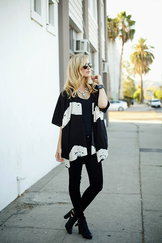 Black and Cream Kimono