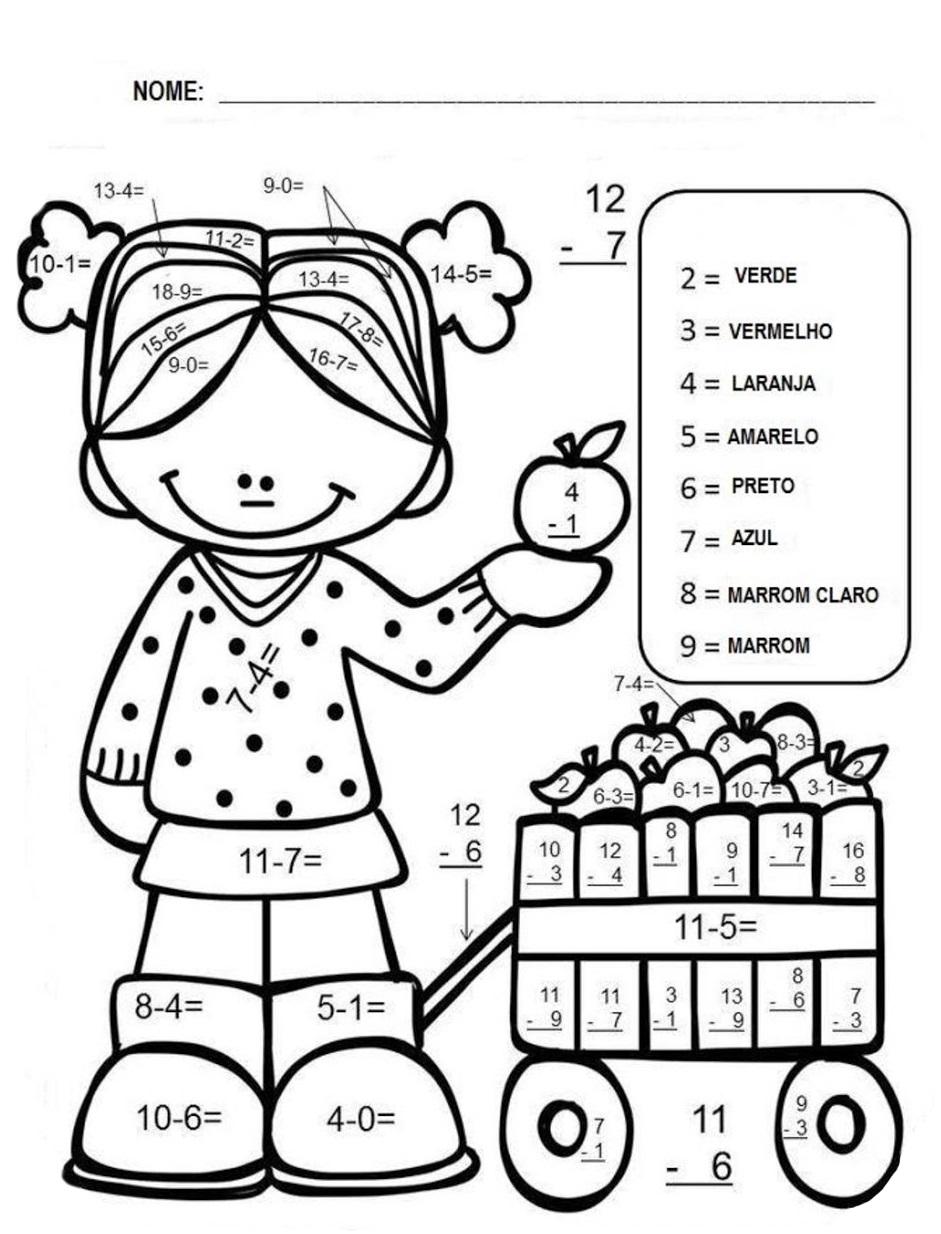 Conhecido Professoras na web: 6 Atividades de somar e subtrair para o 2º Ano KV49