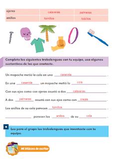 Respuestas Apoyo Primaria Español 2do grado Bloque 3 lección 7 Rima en los trabalenguas