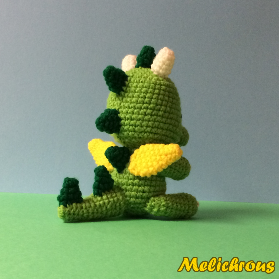 Green Dragon Amigurumi Pattern : Melichrous: Drizzle the Dragon Pattern