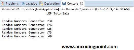 Generate Random Number in Java