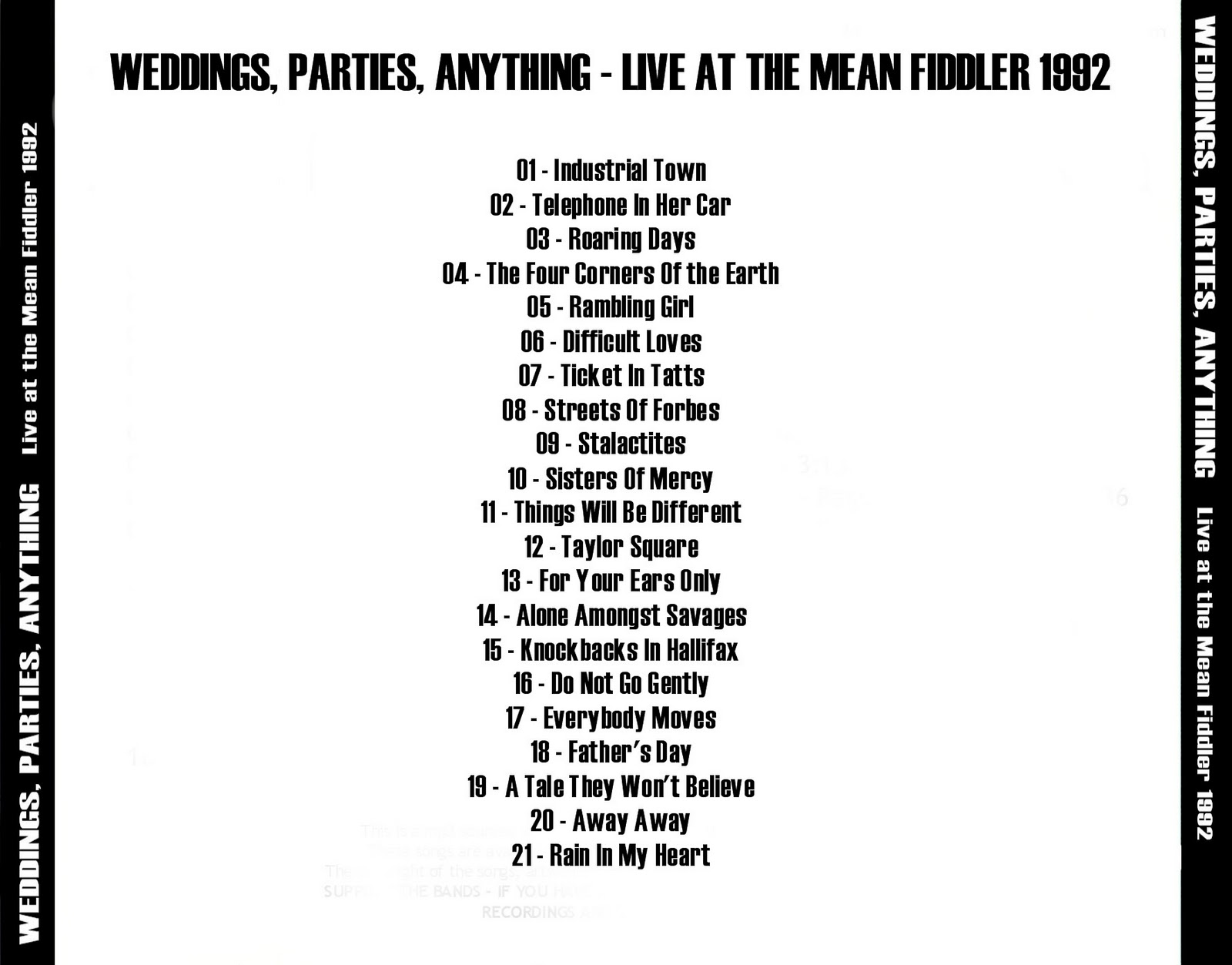 Roio weddings parties anything live at the mean fiddler 1992 roio weddings parties anything live at the mean fiddler 1992 stopboris Choice Image