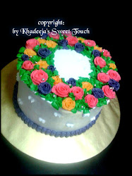 Kek Hantaran ~ Ribbon Roses Buttercream