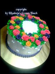 Kek Hantaran ~ Ribbon Roses Buttercream