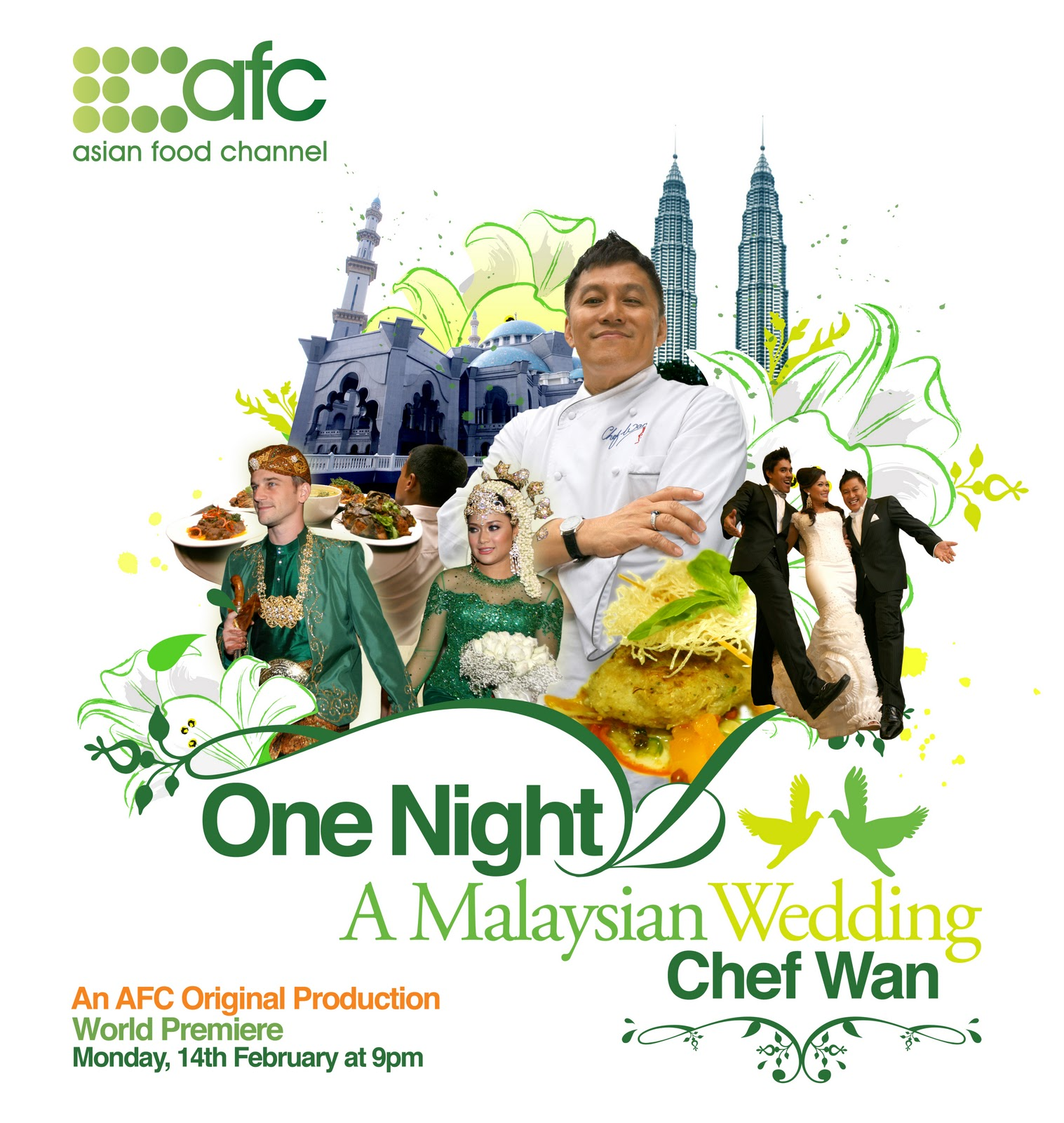 Chasing food dreams one night a malaysian wedding by chef wan check out asian food channel astro channel 703 tonight feb 14th at 9pm to view the stunning wedding of serina redzuawan and her then fianc forumfinder Images