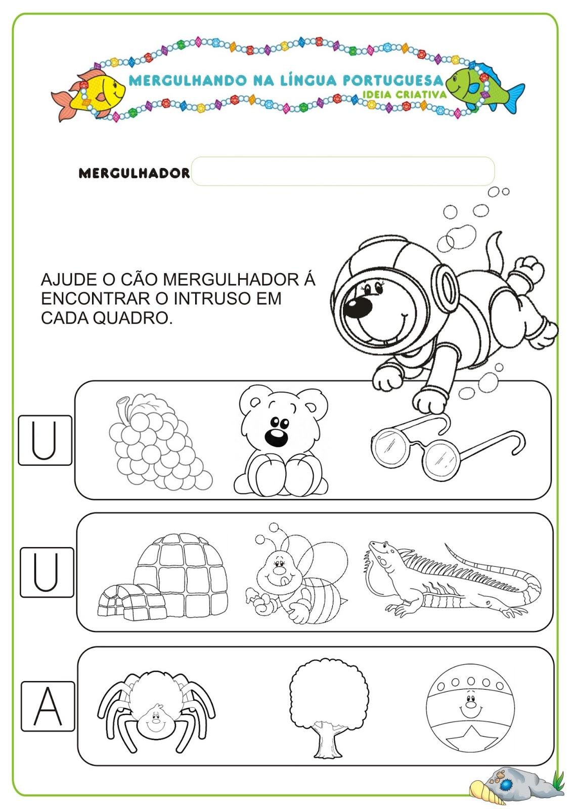 Amado Caderno de Atividades Língua Portuguesa Projeto no Fundo do Mar  AQ32