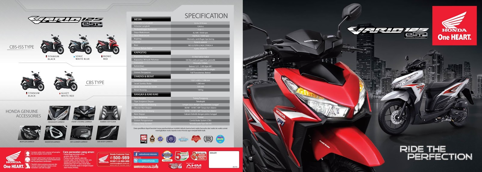 Cover Motor Vario 125 Esp Cbs Exclusive Black Update Daftar Harga All New 150 Matte Blue Kebumen Brosur Honda