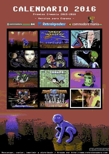 Calendario Retroinvaders 2016: Premios Commodore manía 2015-2016